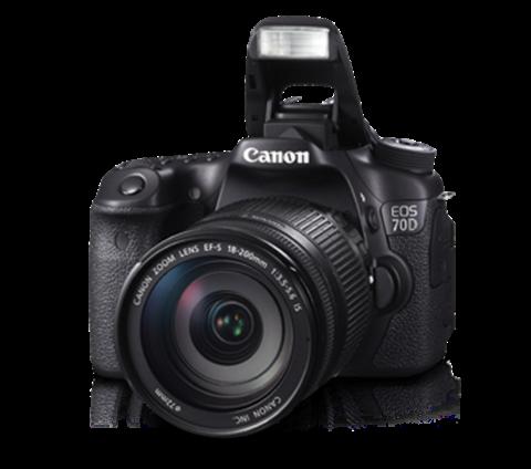 تصویر دوربین عکاسی دیجیتال کانن مدل 70D 18-200