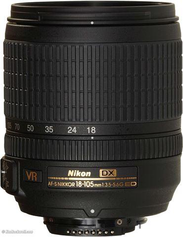 تصویر لنز دوربین عکاسی نیکون مدل 18-105 mm f/3.5-5.6 G