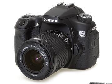 تصویر دوربین عکاسی دیجیتال کانن مدل 70D 18-55 STM